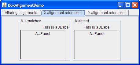 X alignment mismatch