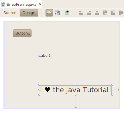 We all love the Java Tutorial
