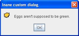 Informational dialog with custom title, custom icon