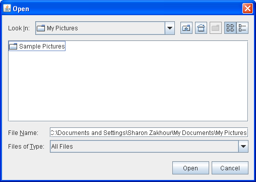 A file chooser in DIRECTORIES_ONLY mode