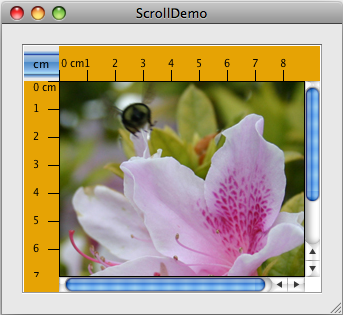 A snapshot of the original, inaccessible ScrollDemo.