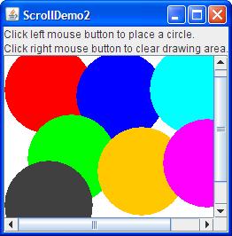 A snapshot of ScrollDemo2