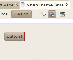 NetBeans outlines the event-producing component