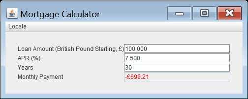 Mortgage Calculator, en-UK locale