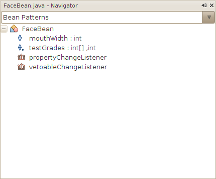 NetBeans bean patterns Navigator