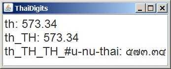 Screenshot of Sample ThaiDigits.java